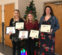 left to right Jenna Pindrock- Honorable Mention, Abby Wystepek - First Place, Payton Smitley - Honorable Mention